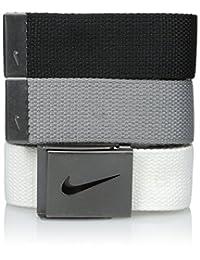Nike SG - Hebilla para hombre con tres correas intercambiables para cinturón