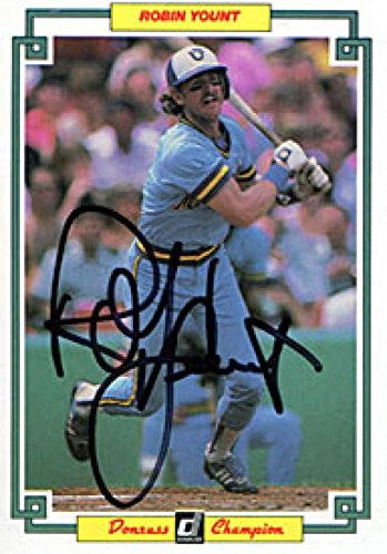 Robin Yount Autographed Donruss Blown Up Card - Autographed Baseball ()