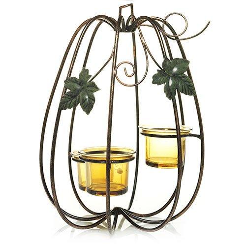 Yankee Candle Shimmering Pumpkins Tea Light Candle Holder