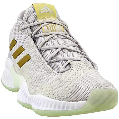 adidas Men's Pro Bounce 2018 Low Basketball Shoe, aero Green/Gold Metallic/Grey, 11.5 M US (Aero Sweatpants Men)