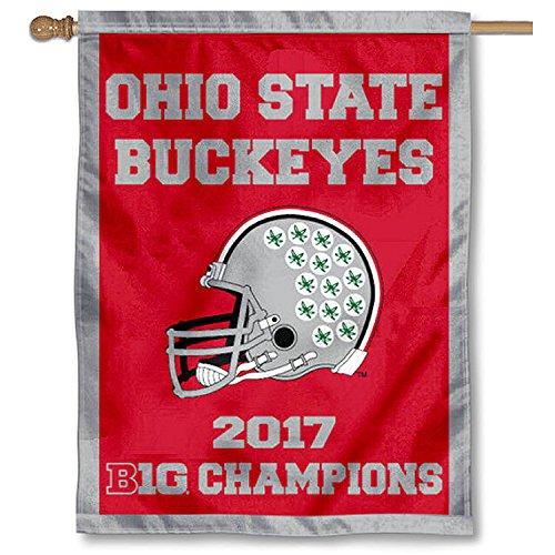 College Flags and Banners Co. OSU Buckeyes Big Ten Football Champions Double Sided House (Buckeye Football)