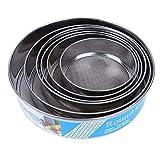 Malida Stainless Steel Flour Sifter/ Sieve, Flour Sieve 6-pcs