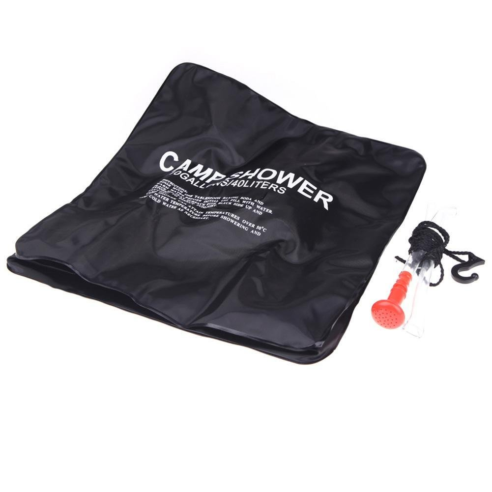 BleuMoo Solar Shower Bag 10Gallon/40L Solar Heating Camping Shower Bag