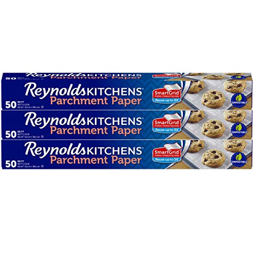 Reynolds Kitchens Parchment Paper Roll with SmartGrid - 3 Boxes of 50 Square Feet (150 Square Feet Total) ()
