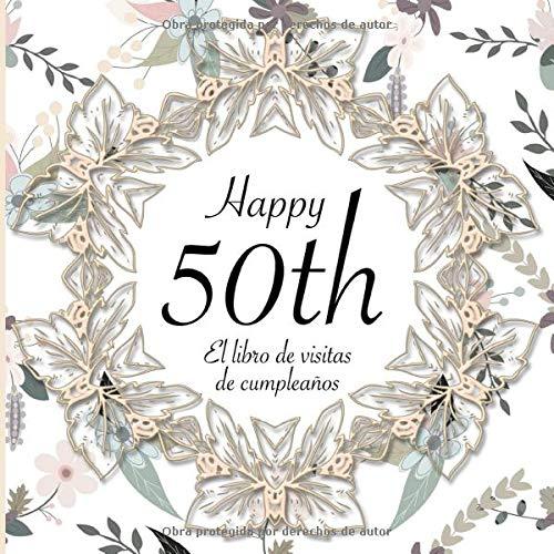 El Libro de Visitas de Cumpleaños: 50 Años I Elegante ...