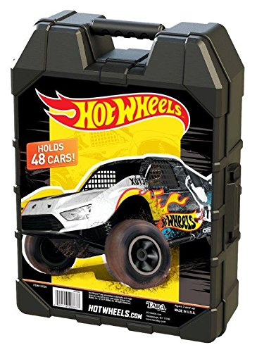 Hot Wheels Molded 48 Car Case - Colors and Styles May - Plastic Case Molded Storage