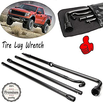 Premium Spare Tire Tools Kit Extension Lug Wrench with Carry Bag for Ford F150 04-2014