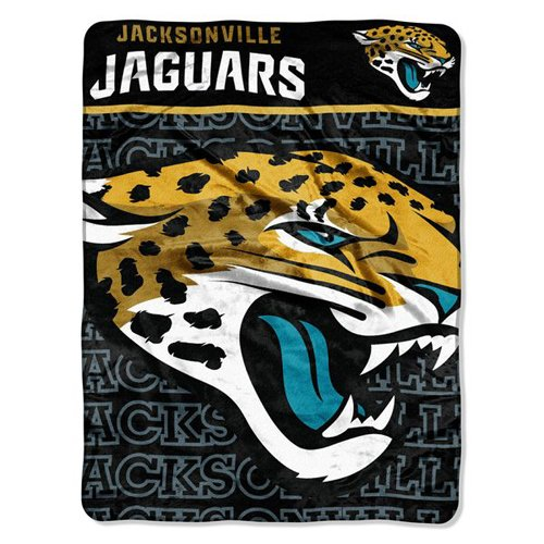y Officially Licensed NFL Jacksonville Jaguars Micro Raschel Throw Blanket, 46