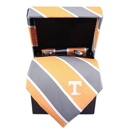 NCAA Tennessee Volunteers Mens Woven Silk Repp Stripe Collegiate Logo Neckwear Box Set 1, Orange, One Size