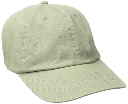 Dorfman Pacific CO. Men's Washed Twill Cap With Precurve, Sage, One (Twill Sage)