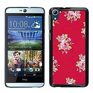 EJOY---Cubierta de la caja de protección para la piel dura ** HTC Desire D826 ** --rosa patrón lila rosa púrpura rojo