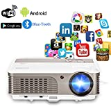 Wireless Projector Wifi Bluetooth 2600 Lumens (2018 Updated), Portable Video LED Projector 1080p Support, Digital Home Theater Cinema Projector Indoor Outdoor Movie Game with HDMI USB Audio AV Ports