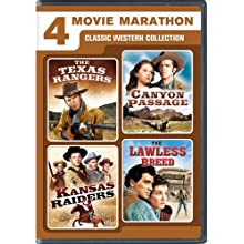 4 Movie Marathon: Classic Western Collection (The Texas Rangers / Canyon Passage / Kansas Raiders / The Lawless Breed) (1936)