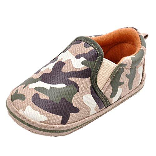 leap frogInfant Boy Camouflag Sneakers - Zapatos Planos con Cordones Bebé-Niñas Beige