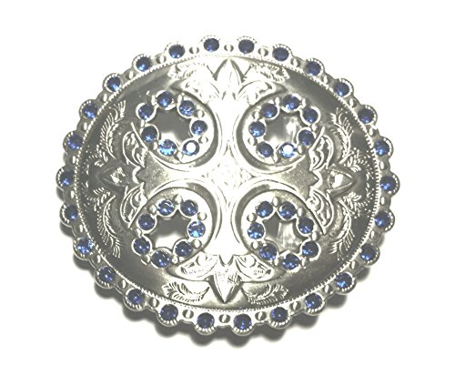 - SILVER CROSS WITH BLUE STONES BELT BUCKLES