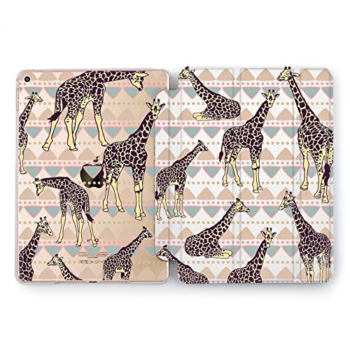 Wonder Wild Boho Giraffe Apple iPad Pro Case 9.7 11 inch Mini 1 2 3 4 Air 2 10.5 12.9 2018 2017 Design 5th 6th Gen Clear Smart Hard Cover Long Neck Animal Zoo Africa Savanna Indian Ornament Tribe