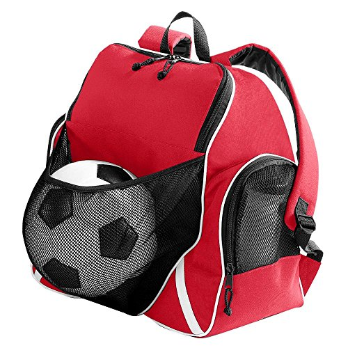 Augusta Sportswear TRI-COLOR BALL BACKPACK OS (Soccer Zipper Pull)