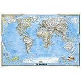 World Classic, poster size, laminated : Wall Maps World (Reference - World)