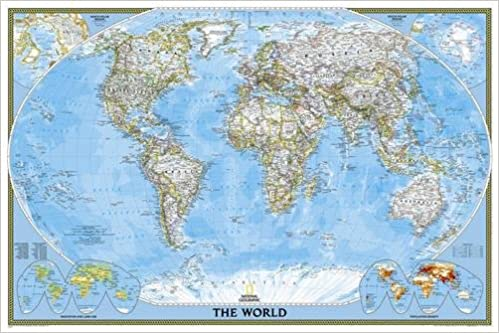 Amazonin Buy World Classic Poster Size Laminated Wall Maps - Buy wall map of the world