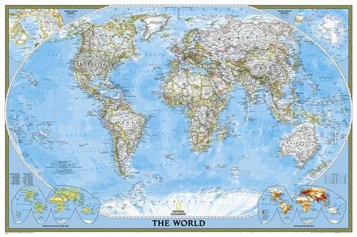 National Geographic: World Classic Wall Map - Laminated (36 x 24 inches) (National Geographic Refere
