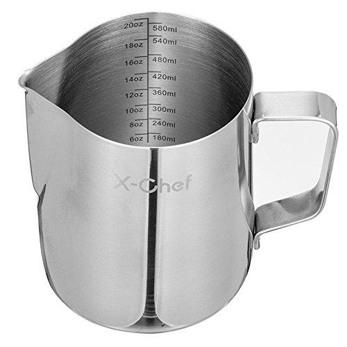 metal milk steaming pitcher - 1