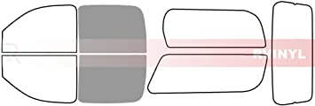 Back Kit Rtint Window Tint Kit for Chevrolet Suburban 2007-2014 20/%