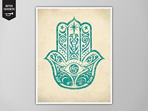Hamsa Hand Print Art Home Decor Poster