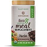 Sunwarrior - Illumin8 Plant-Based Superfood Meal Replacement, Organic, Vegan, Non-GMO, Mocha, 20 servings