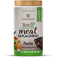 Sunwarrior - Illumin8 Plant-Based Superfood Meal Replacement, Organic, Vegan, Non-GMO, Mocha, 20 servings