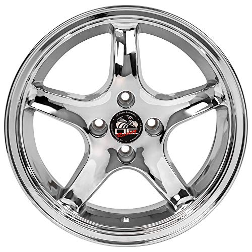 Partsynergy Replacement For Chrome Wheel Rim 17 Inch Fits 1979-1993 Ford Mustang 4-108mm 5 Spokes Chrome 17x9