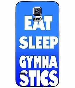 Eat Sleep Gymnastics Plastic Phone Case Back Cover Samsung Galaxy S5 I9600