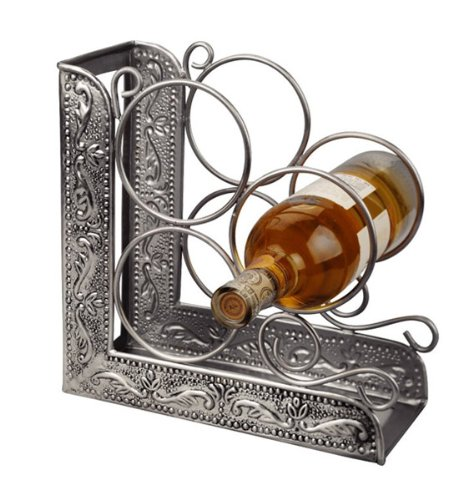 (K&A Company Wine Rack Bookend - Pewter, 10.5
