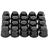 OxGord 19 mm Black Chrome Lug Nut Cover
