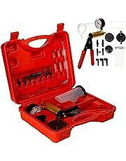 CCLIFE Odpowietrzacz hamulców, pompa próżniowa do ręcznego odpowietrzania hamulców, tester próżniowy do samochodu, 0-30 inHg / 0-760 mmHg