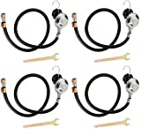 Camp Chef HRL Replacement Hose and Regulator, 1 PSI (Pack of 4)