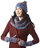 Screamer Women's Chellene Beanie with Matching Infinity and Gloves, One Size, Marine