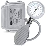 Sphygmomanometer Blood Pressure Monitor Cuff by GreaterGoods, Manual BPM, Large Adult Cuff Size with Monitor, Travel Case, Bulb Kit. Use with Stethoscope (Certified Refurbished)