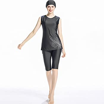 921268e6cb9 Women Muslim Swimwear Girls Swimsuit Burqini Islamic Sleeveless Swimwear  Ladies Beachwear Burkini. CaptainSwim Women Muslim Swimwear Girls Swimsuit  Burqini ...