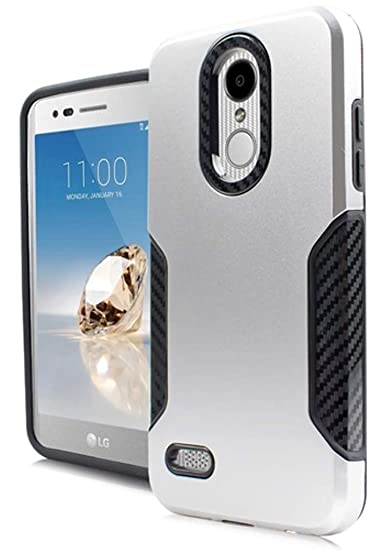 Amazon com: Carbon Slim Hybrid Cover for {Verizon Wireless} LG Zone