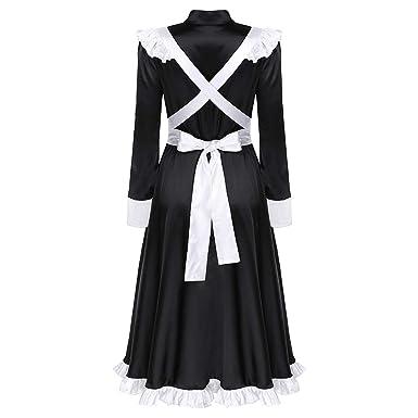 inlzdz Disfraz Sirvienta Victoriana Mujer Uniforme de Criada ...