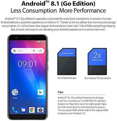 Ulefone S1 Mobile Phone Android 8.1 5.5 pulgadas 18: 9 MTK6580 ...