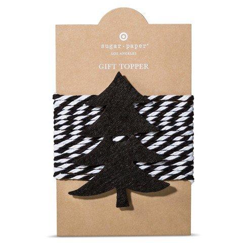 Sugar Paper Los Angeles Felt Tree Tie On Gift Topper-Set of 2