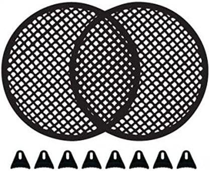 "8/"" Black METAL SPEAKER GRILL// COVER woofer full range steel waffle screen CAR PA"
