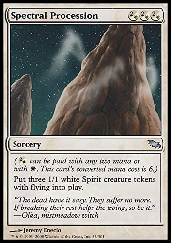 Magic the Gathering MTG Spectral Procession Shadowmoor   LP