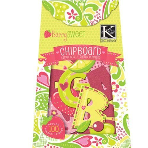 K&Company Berry Sweet Chipboard Box, Glitter Alphabet 100 Pieces by ()