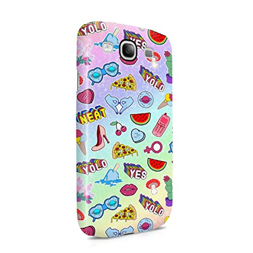 Girls Club Love, Money, Diamonds, Food & Stuff Pattern Hard Plastic Phone Case For Samsung Galaxy S3