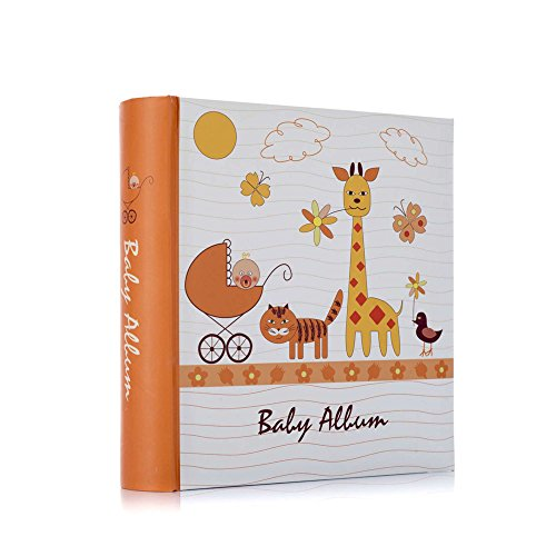Baby Photo Album holds 200 4 x 6 Inch photos slip in case memo book bound unisex album by Arpan
