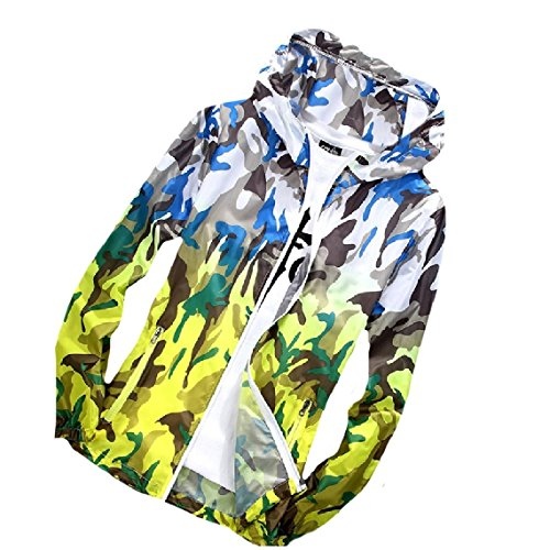 Eruzione zip Outwear Cappuccio Guardie Giacche Donne Variopinta Mogogo Camuffamento As7 Beachwear Delle Full qnUxtBPY