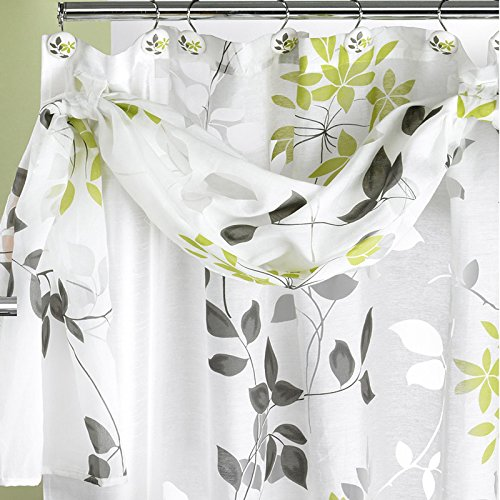 popular bath mayan shower curtain leaf sage