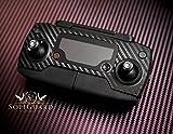 SopiGuard Black Carbon Fiber Precision Edge-to-Edge Coverage Vinyl Skin Controller Battery Wrap for DJI Mavic Pro